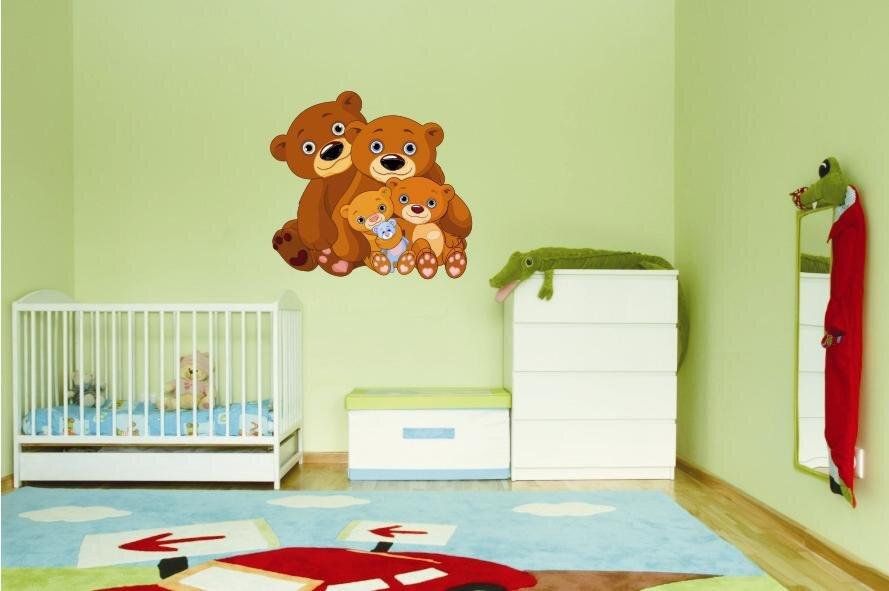 wandtattoo teddy family. Black Bedroom Furniture Sets. Home Design Ideas