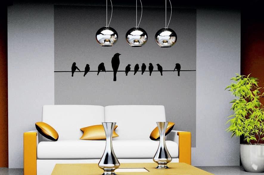 wandtattoo v gel auf leitung. Black Bedroom Furniture Sets. Home Design Ideas