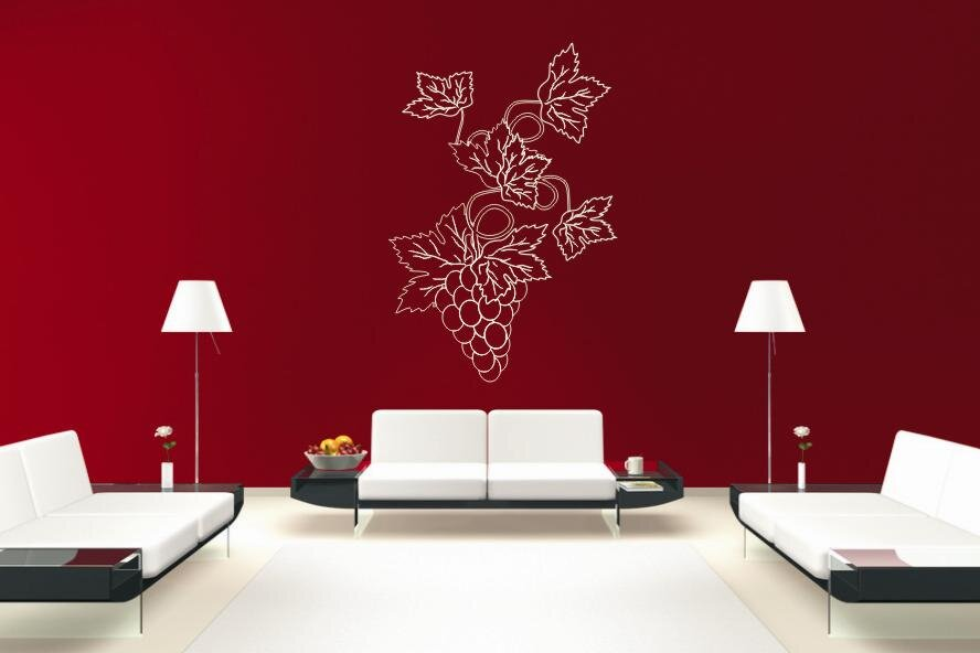wandtattoo weintrauben motiv nr 1. Black Bedroom Furniture Sets. Home Design Ideas