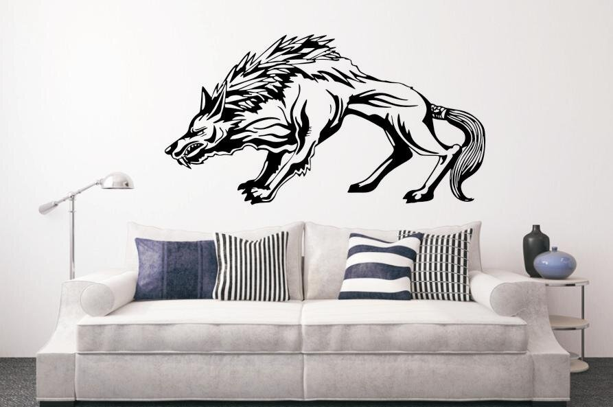 wandtattoo wolf motiv nr 1. Black Bedroom Furniture Sets. Home Design Ideas